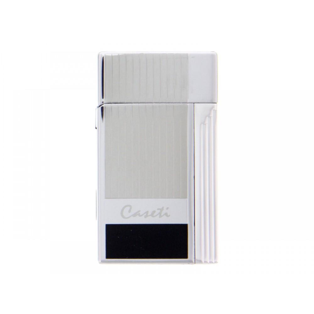 Caseti Soleil szivaröngyújtó - fekete/króm csíkos