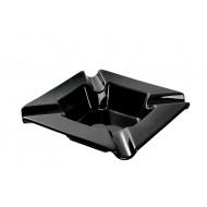 Kerámia szivar hamutál - fekete, szögletes (szép NAGY!)