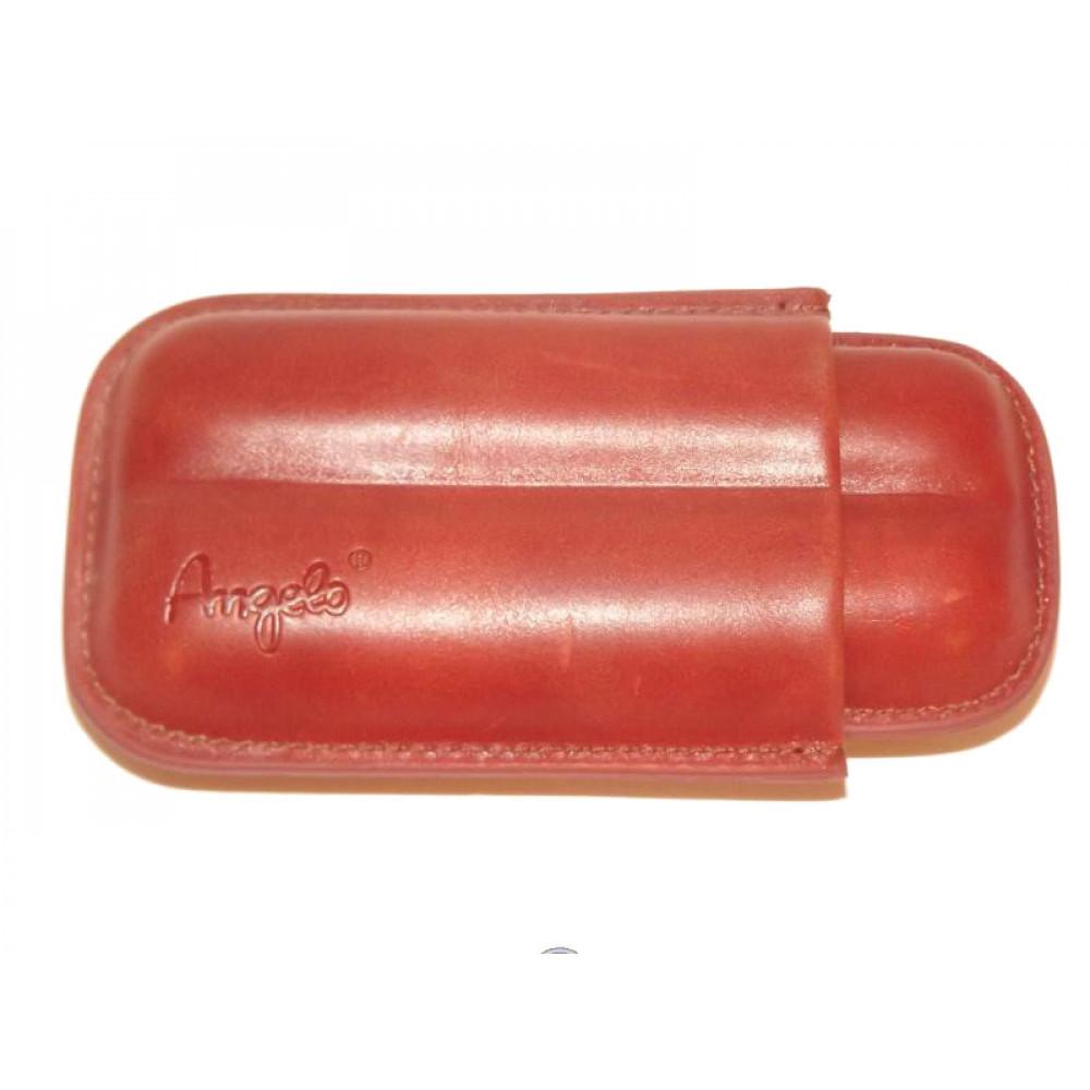 Szivartok - 2 szivar részére, barna bőr - Angelo (13cm)