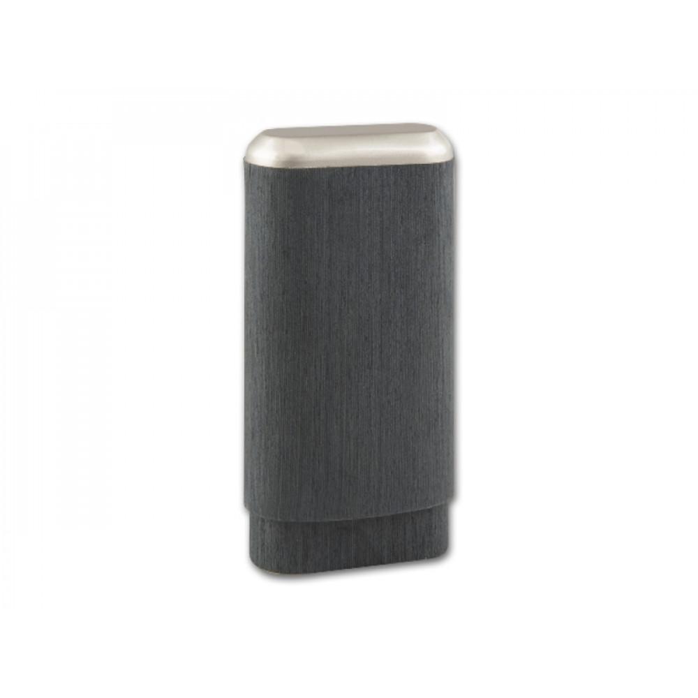 Szivartok - 3 szivar részére, fémdíszítésű fekete bőr (14-19x3cm)