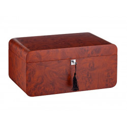 Humidor 80 szivar részére, cedrusfa, barna színű szivar doboz, párásítóval, hygrometerrel - Angelo