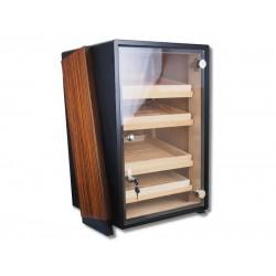Szivarszekrény - szivar tároló, 250 szál szivarnak, üvegajtós, 4 fiókkal, hygrométerrelés párásítóval