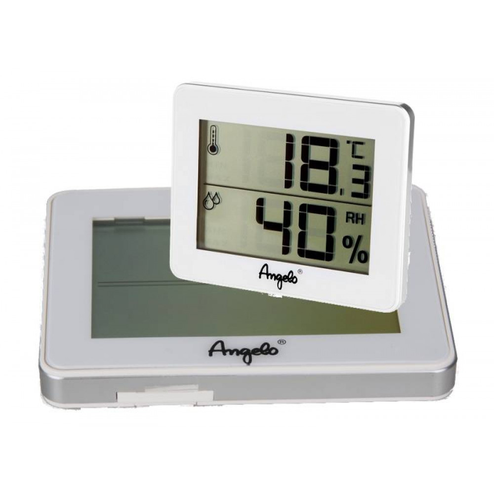 Digitális thermo-hygrométer - fehér, Angelo