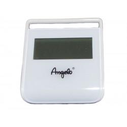 Digitális állítható thermo-hygrométer - fehér, Angelo