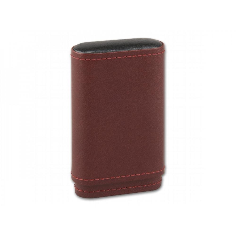 Cigarillo tok 5 szivarka részére - barna bőr (100x55x16mm)