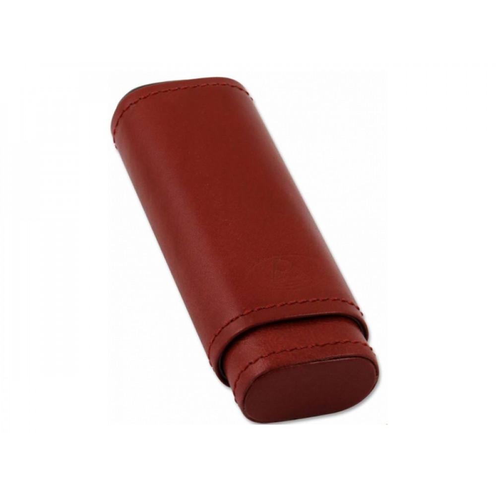Szivartok - 2 szivar részére, barna bőr (120x37x16mm)
