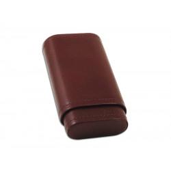 Szivartok - 3 szivar részére, barna bőr (120x55x16mm)