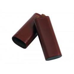 Szivartok - 2 szivar részére, barna bőr (120x42x21mm)
