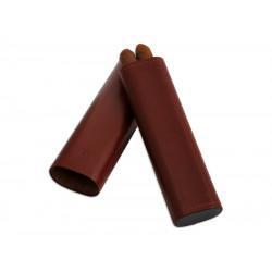 Szivartok - 2 szivar részére, barna bőr (170x43x20mm)