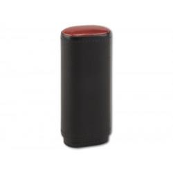 Szivartok - 2 szivar részére, fekete bőr (120x42x21mm)