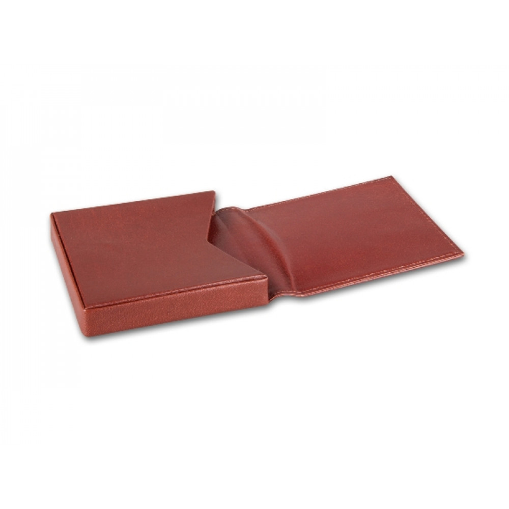Cigarillo tok 10 szivarka részére - barna bőr (95x95x10mm)