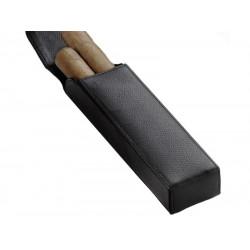 Szivartok - 2 szivar részére, fekete bőr (160x40x25mm)