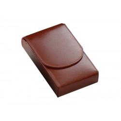 Szivartok - 4 szivar részére, barna bőr (130x75x20mm)