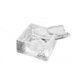 Szivar hamutál - Üveg, Négyzet alakú