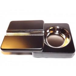 Szivar hamutál, összecsukható, fekete színű