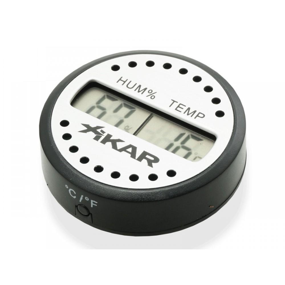 Digitális thermo-hygrométer - kerek, Xikar
