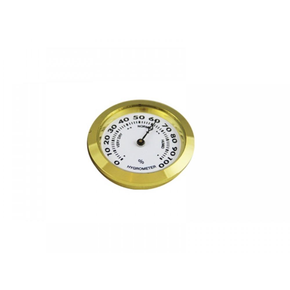 Humidor hygrométer - arany színű (37 mm)