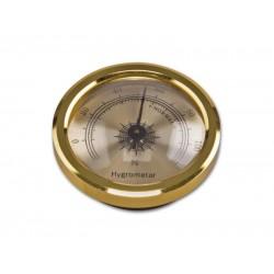 Humidor hygrométer - arany színű (4,5/3cm)