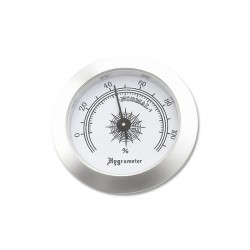 Humidor hygrométer - ezüst színű