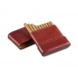 Cigarillo tok 10 szivarka részére - barna bőr (85x85mm)