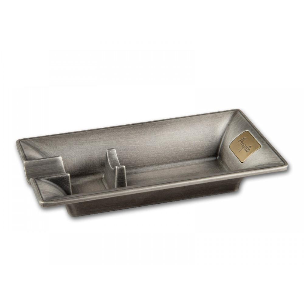 Fém szivar hamutál - 1 szivarnak (16x8,5cm)