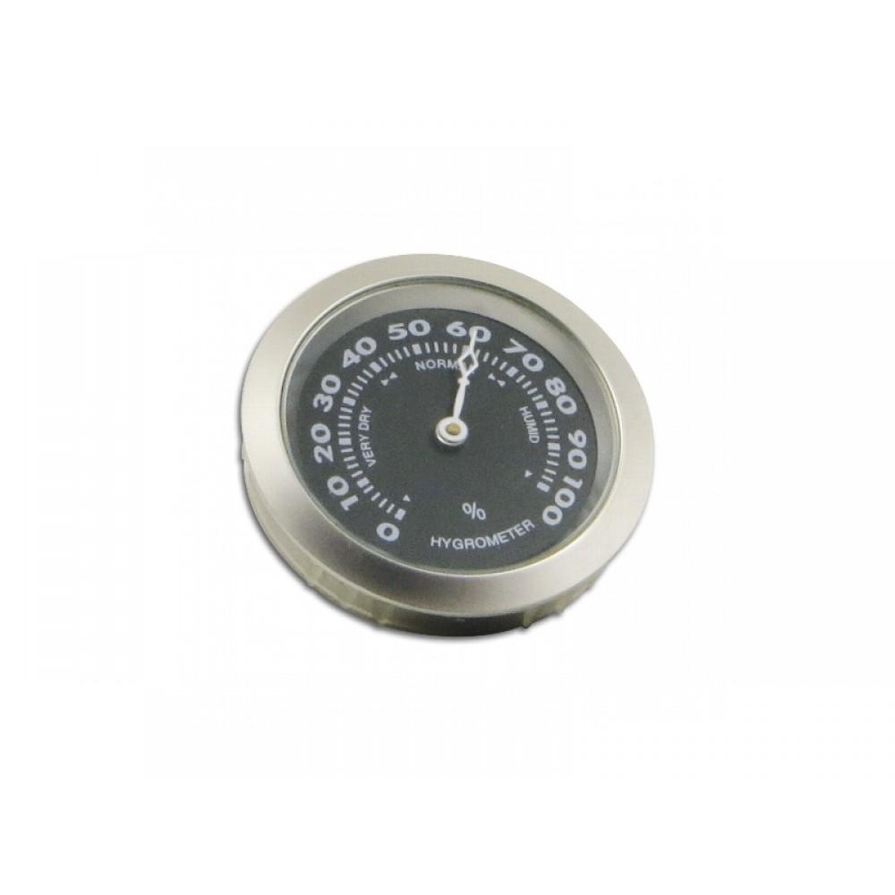 Humidor hygrométer - mattezüst-fekete színű