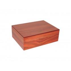 Humidor 25 szál szivar részére, cédrusfa szivar doboz, párásítóval, hygrométerrel - barna