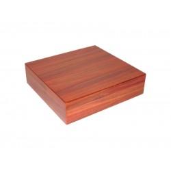 Humidor 15 szál - szivar tároló doboz, cédrusfa, párásítóval, hygrométerrel - barna