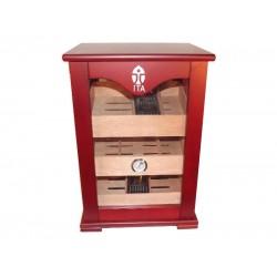 Samana humidor - szivar tároló szekrény 60-80 szál szivarnak, cédrusfa belső, körbe üveges, párásító, hygrométer - Üzletbe, trafikba is IDEÁLIS!
