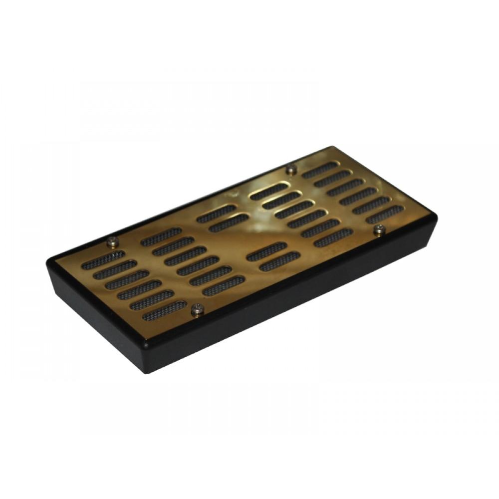 Humidor párásító - arany színű fedéllel (15,5 x 7 x 2 cm)