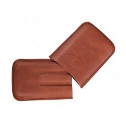 Szivartok - 3 szivar részére, barna bőr, Robusto (15x10cm)