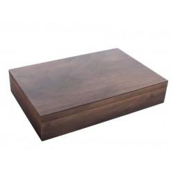 Humidor 30 szál szivar részére, cédrusfa szivar tároló doboz - antik hatású, Achenty!