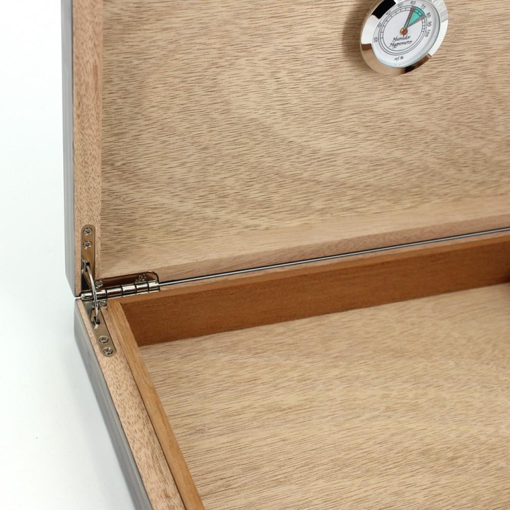 Humidor 30 szál szivar részére, szivartartó doboz, párásítóval - Bambusz, Achenty!