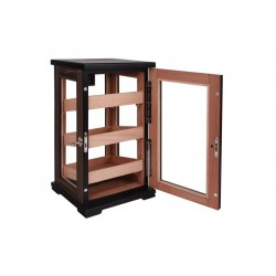 Humidorszekrény - szivar tároló szekrény 80-100 szál szivarnak, cédrusfa belső, körbe üveges, digitális hygrométer - Üzletbe, trafikba is IDEÁLIS!