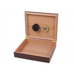 Humidor 30 szál szivar részére, szivartartó doboz, párásítóval - dió-dekor, Achenty!