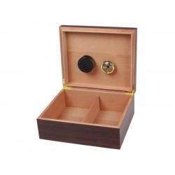 Humidor 40 szál szivar részére, szivartartó doboz, párásítóval - dió-dekor, Achenty!
