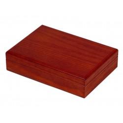 Humidor 30 szál szivar részére, szivartartó doboz, párásítóval - barna, Achenty!