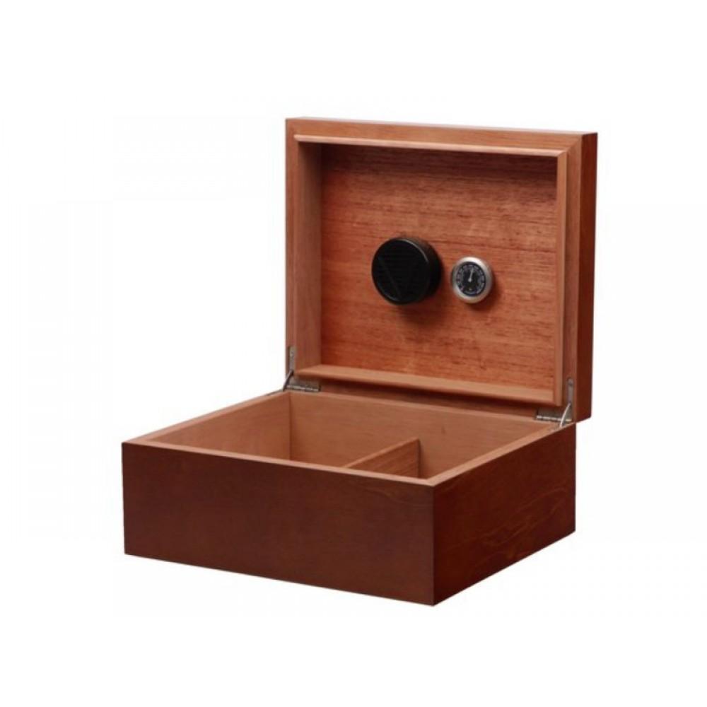 Humidor 40 szál szivar részére, szivartartó doboz, párásítóval - barna, Achenty!