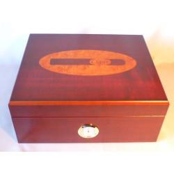 Humidor 50 szivar részére, cedrusfa szivartartó doboz, külső hygrometer, szivar dekoráció, Angelo márka