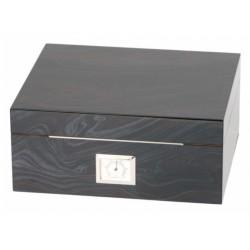 Humidor 30 szál szivar részére, cédrusfa szivar doboz, párásítóval, hygrométerrel - Passatore Lava