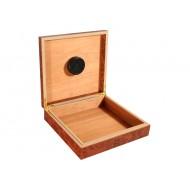 Humidor 20 szál - szivar tároló doboz, cédrusfa, párásítóval - bruyere