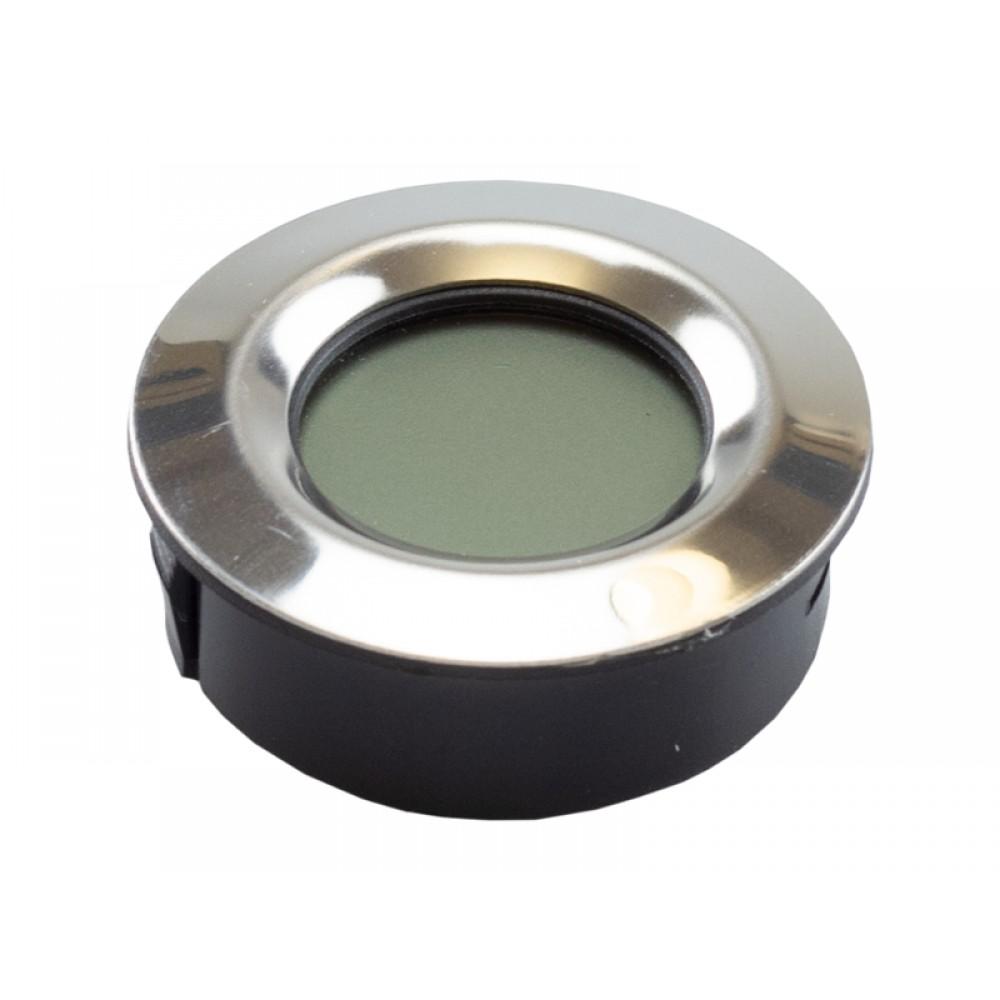 Digitális thermo-hygrométer - páratartalom és hőmérséklet mérő, kerek (4,5cm)