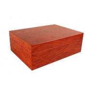 Humidor 30 szivar részére, VILÁGOSbarna színű szivar tároló doboz, belső hygrométerrel, párásítóval + AJÁNDÉK szett!