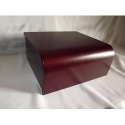 Humidor 50 szál szivar részére, cseresznye színű szivartartó doboz, lehajló tetővel, belső hygrométerrel, párásítóval