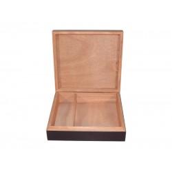 Humidor 15 szál szivar részére, cédrusfa szivar doboz párásítóval, hygrométerrel - fekete