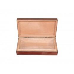Utazó humidor - szivardoboz diófa borítással, cédrus belső, párásítóval és hygrométerrel