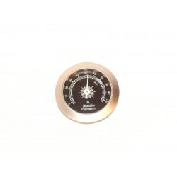Humidor hygrométer - ezüst-fekete színű