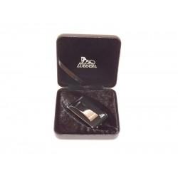 Lubinski szivaröngyújtó - Venezia - fekete színű, 4 db Swarovski kristállyal díszítve