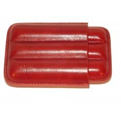 Szivartok - 3 szivar részére, barna bőr - Angelo