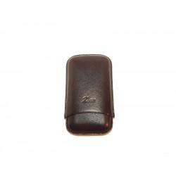 Zino Szivartok - 3 szivar részére, fekete, valódi bőr, 11 cm